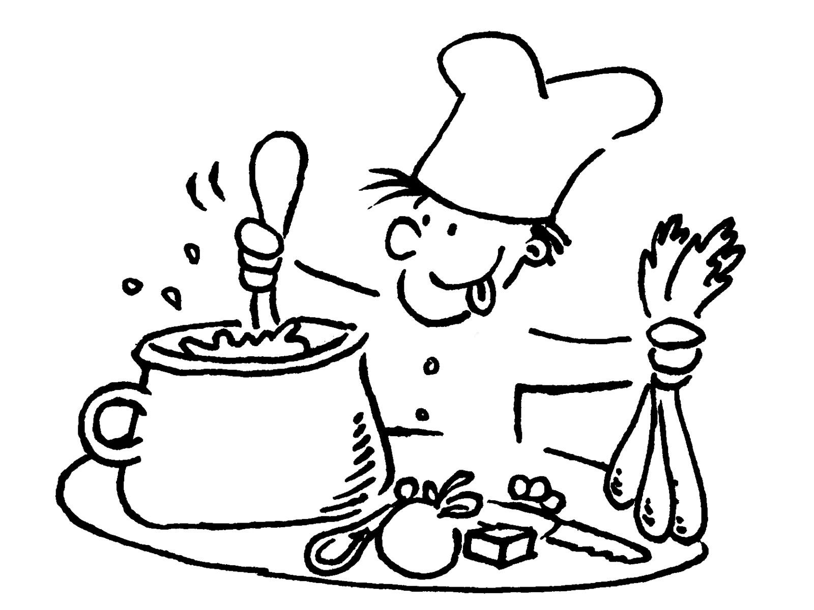 Kleurplaat Koken En Bakken Koken Gr 8b Kindcentrum De Brug